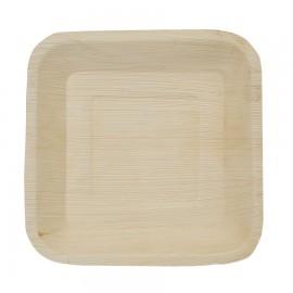 Piatto Quadrato In Foglia Di Palma 18x18cm. 25pz.