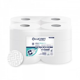 Rotolo Igienica Mini-jumbo Aquastream 1cf.x12pz.