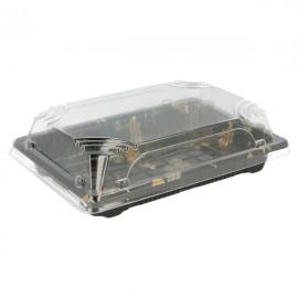 Vaschetta Sushi 17x12,3x4,5 Cm Nero Pz.50 1ctx12cf
