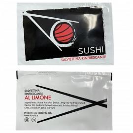 Salviette Tnt Rinfrescante Limone Sushi 1ctx500pz.